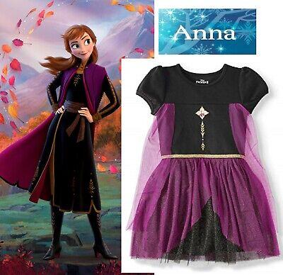 Kids Girl Frozen 2 Snow QueenANNA Dress Cosplay Fancy Dress Costume Outfit 10/12