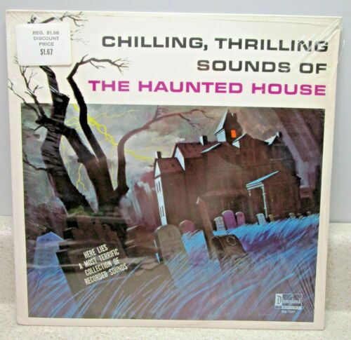 VINTAGE/SEALED DISNEYLAND CHILLING, THRILLING SOUNDS OF THE HAUNTED HOUSE LP