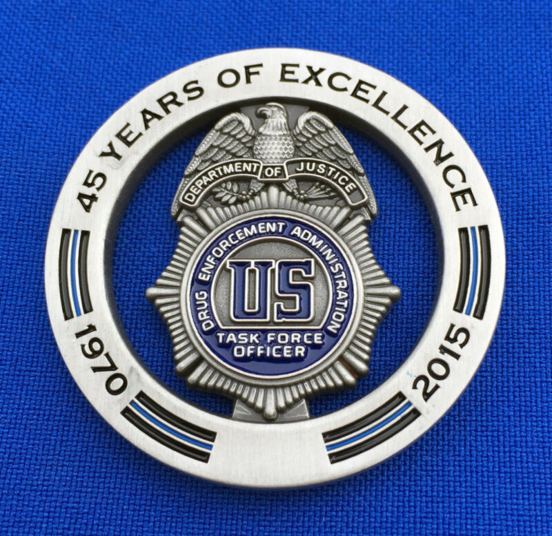 US Drug Enforcement Administration Task Force Officer - DEA TFO Challenge Coin