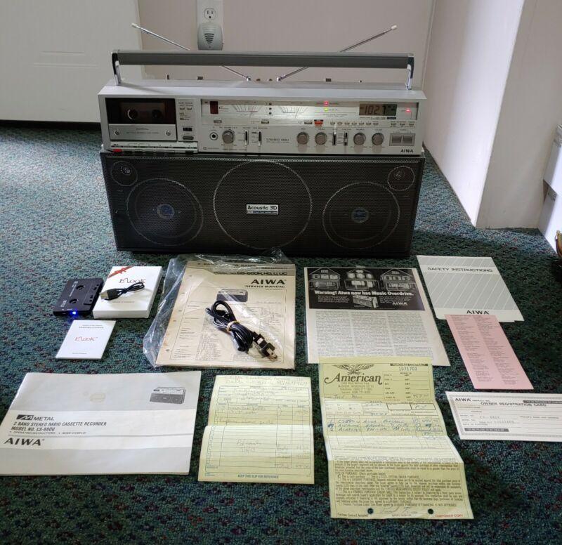 Vintage AIWA CS-880-U Boombox Ghetto Blaster ( Bundle-Deal RARE & CLEAN )