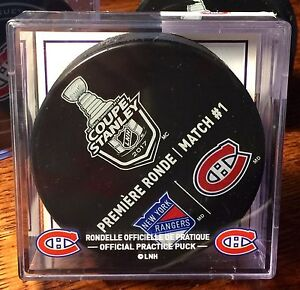 Montreal Canadiens 2017 Stanley Cup Playoffs Warm Up Puck