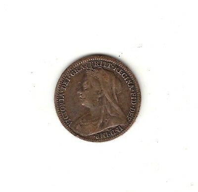 AV-VD Großbritannien 1900 3 Penny Victoria Silber LC11 (1900 Penny)