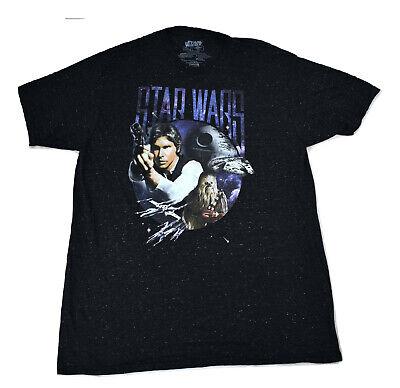 Han Solo Shirt (Star Wars Mens Han Solo Chewbacca Death Star Shirt New M, L, XL,)