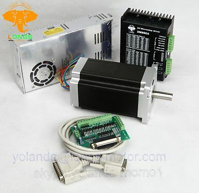 Eu Ship 1axis Stepper Motor Nema34 1232oz.in 5.6astepper Driver Dm860a Cnc Kit