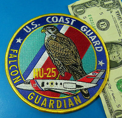 US COAST GUARD PATCH, USCG HU-25 FALCON GUARDIAN  Iron OR Sew On Beautiful #AA