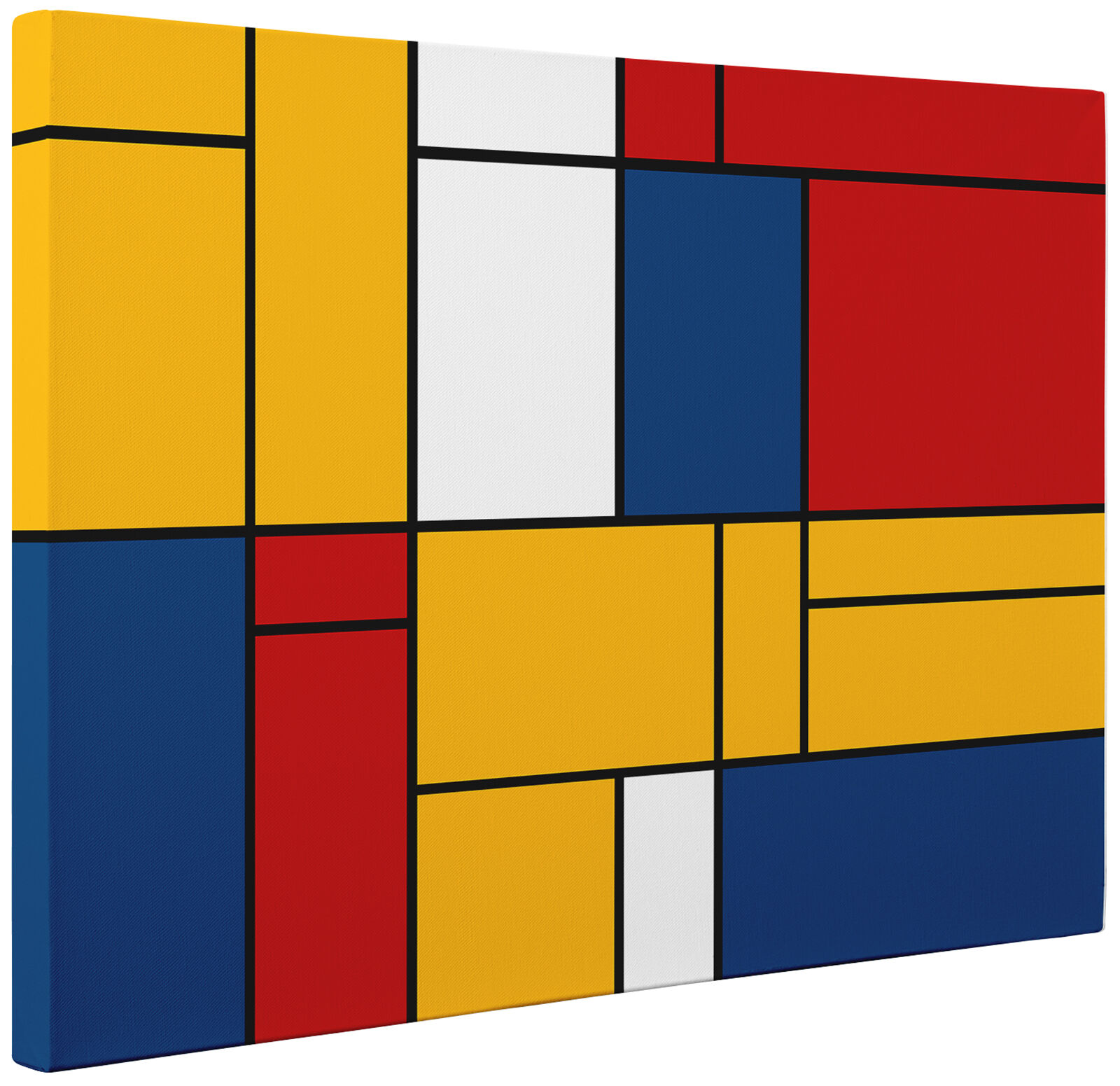 Large Piet Mondrian Style Canvas Print Wall Art Picture Ready To ...