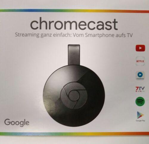 original Google Chromecast 2 (2015) Digital Media Streamer HDMI WLAN