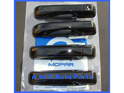 NEW 2012-2015 Dodge RAM EXPRESS QUAD or CREW CAB Black Door Handles,OEM Mopar