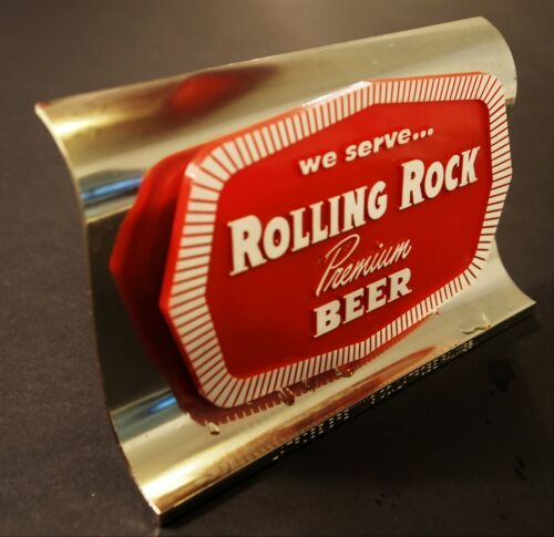 Vintage Bar Top Rolling Rock Beer Promotional Display Sign