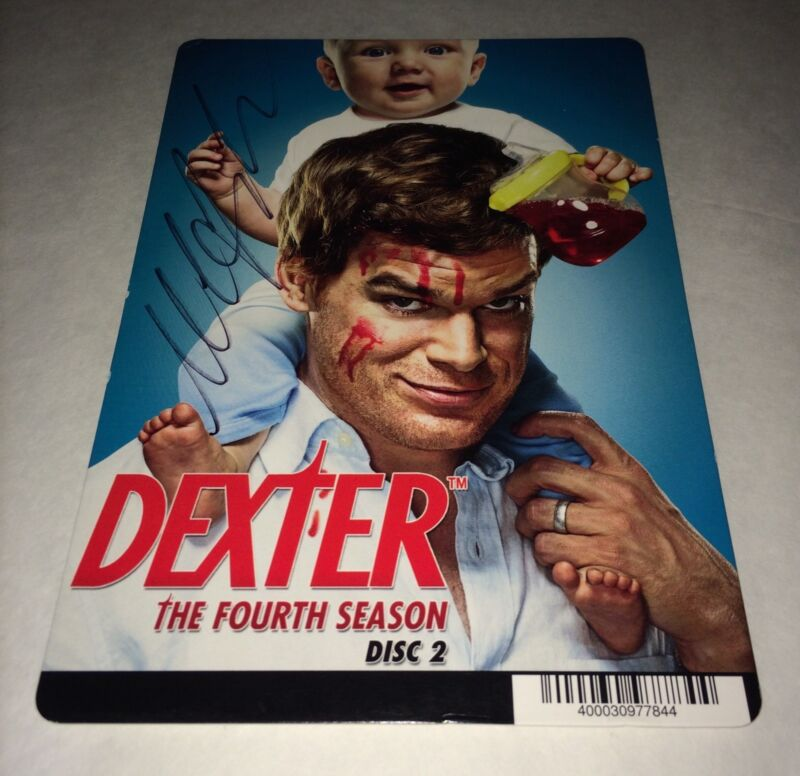 Michael C. Hall DEXTER Hand Signed DVD Backer Card Authentic Autograph