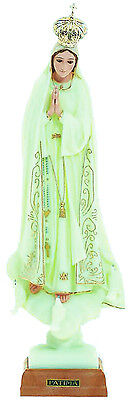 Our Lady of Fatima Statue Religious Figurine Virgin Mary Glow in the Dark - 18