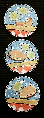 Harrahs Casino - Harrahs Casino Collectable Plates, Flying Hamburger and Hotdog Dishes