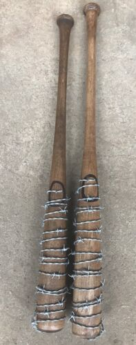 "The Walking Dead ""Lucille""  Negan Hardwood Replica w/ Real Barb Wire Prop"