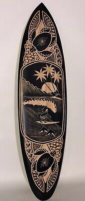 SEA TURTLE SURFBOARD AIR CARVED DESIGN TROPICAL SIGN WALL HANGING ART HOME DECOR