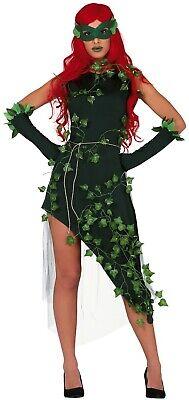 Damen-Grün Anlage Bösewicht TV Buch Film Halloween Kostüm UK 8-16 ()