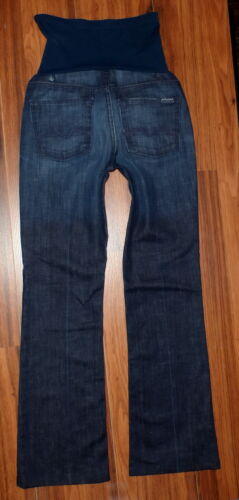 7 FOR ALL MANKIND FULL PANEL A PEA IN THE POD MATERNITY BOOTCUT JEANS SIZE 28X30