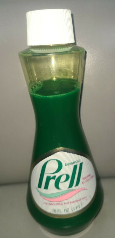 Vintage Prell Shampoo Bottle 85% Full 16oz Imperial Size