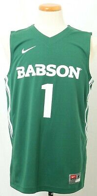 - NEW Nike Babson College Beavers 1 Green Replica Basketball Jersey Men's M