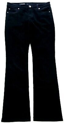 Kut From The Kloth Womens Black Corduroy Farrah Baby Boot Cut Pants Jeans Size (Kut From The Kloth Farrah Baby Bootcut Black)