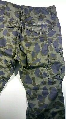 G star Mens Military Camouflage Cargo Pants Size 33/34