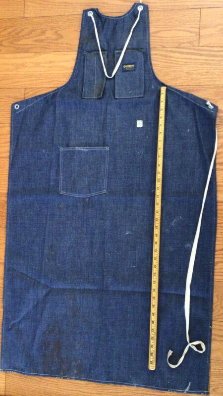 OshKosh shop apron vintage light blue