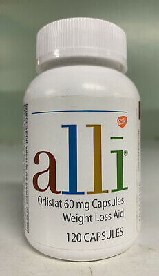 Alli Weight Loss Aid- Orlistat 60 mg Capsules 120 Capsules. Exp 02/22. Sealed