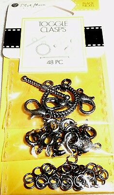 Blue Moon TOGGLE CLASPS Black Nickel 48 pc BMF CLSP MTL TGL AST PK BNC  ()