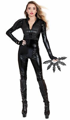 Dreamgirl Defender Costume Black Widow Jumpsuit Women's Superhero SM-XL