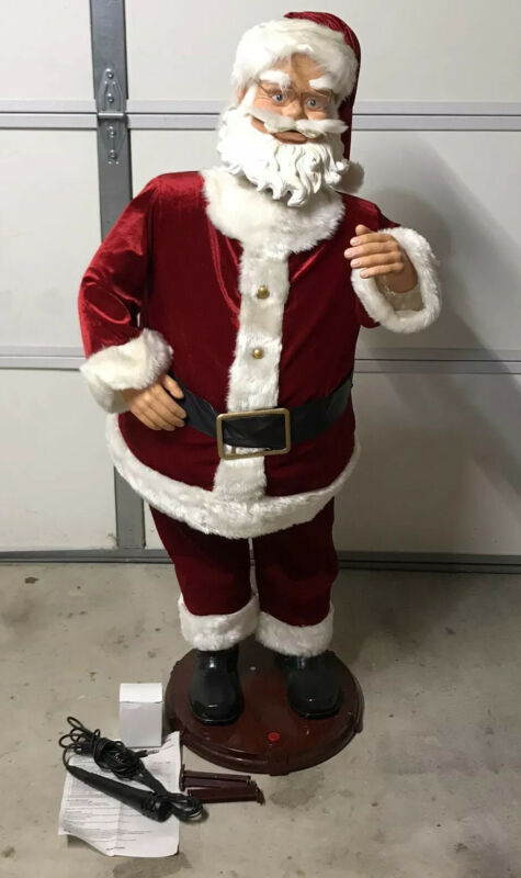 "Gemmy Holiday 50"" Animated Singing Dancing Christmas Santa In Original Box Works"