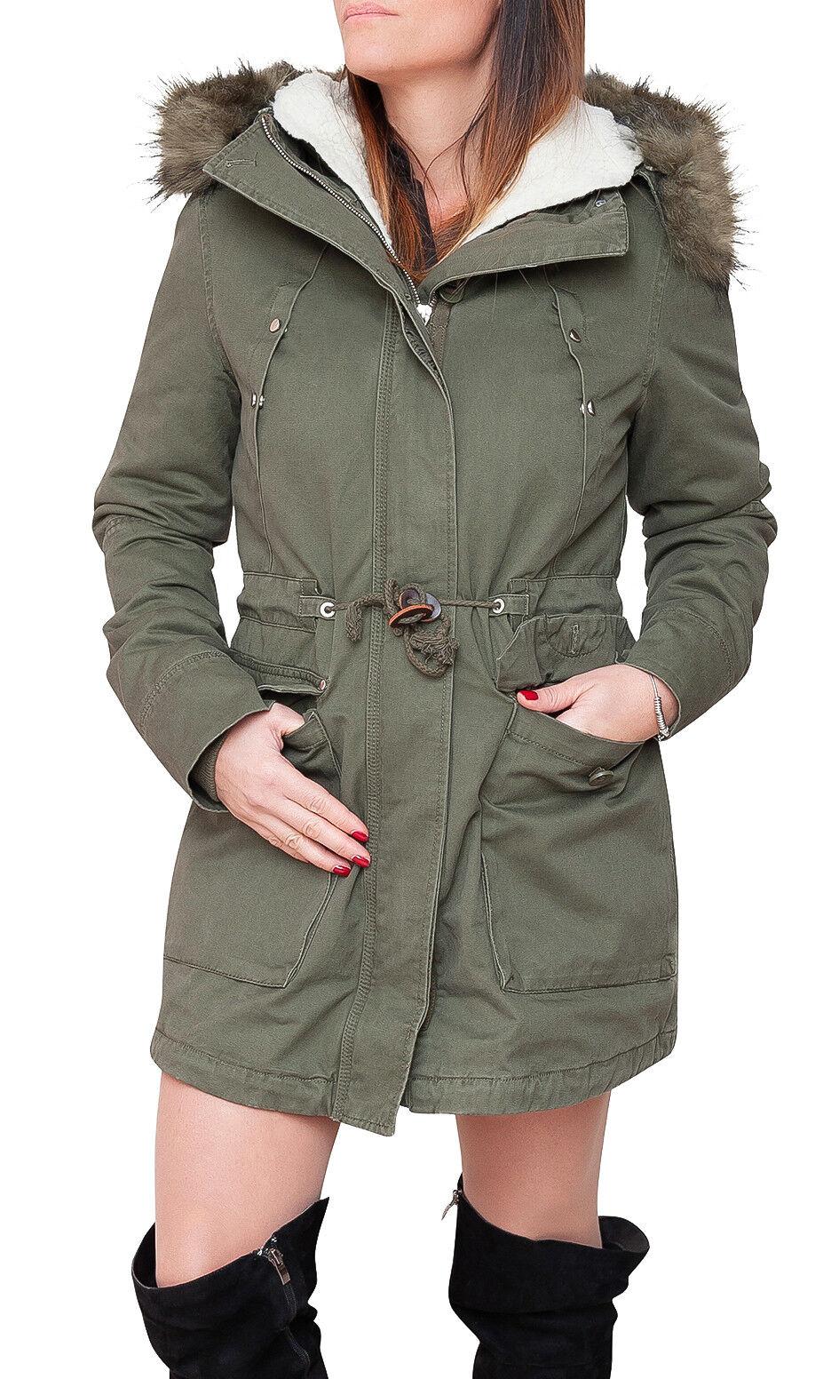 newest 3d405 f081f Parka donna Diamond invernale verde casual giacca giubbino ...