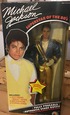 Vtg.Michael Jackson Superstar of the 80's magicglove microphone posing stand New](Michael Jackson Microphone)