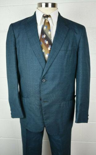 Vintage 1960s Mens Teal Blue Duro Tex Suit 40