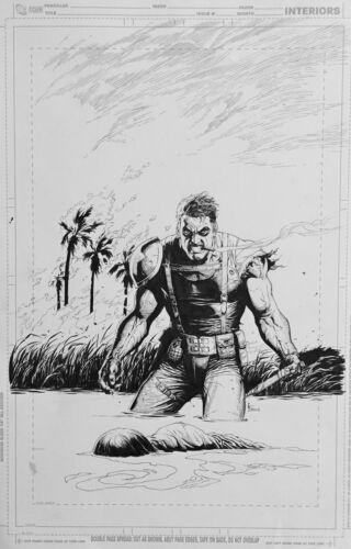 Gary Frank Before Watchmen: Comedian #5 Cover Original Comic Art Doomsday Clock