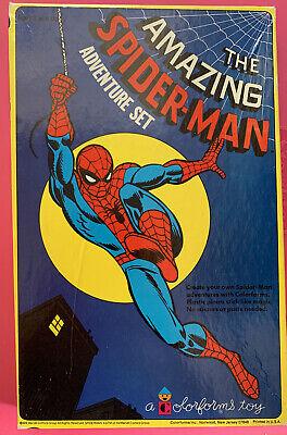 Vintage 1974 Spider-man Colorforms Adventure Set The Amazing Spider- man NICE!