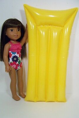 - YELLOW Pool Swim Mat w/Swimsuit Doll Clothes For 14