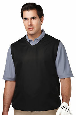 Tri-Mountain Men's Big And Tall V-Neck Crossover Collar Wind Vest. J2612-Tall Big And Tall V-neck Vest