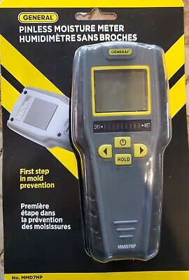 General Tools Mmd7np Pinless Non-invasive Non-marring Digital Moisture Display