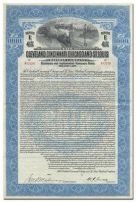 Cleveland, Cincinnati, Chicago & St. Louis Railway Company Bond Certificate