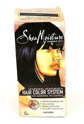 Moisturizing Black Hair - Shea Moisture Hair Color Moisture-Rich System Jet Black (New in Damaged Box)