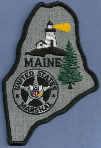 UNITED STATES MARSHAL MAINE SHOULDER PATCH STATE SHAPED!