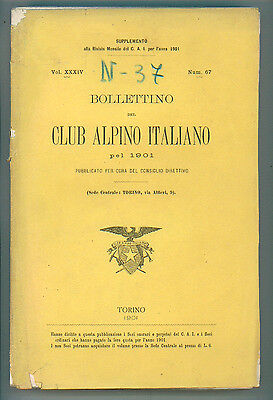 BOLLETTINO DEL CLUB ALPINO ITALIANO N. 67 VOL. XXXIV 1901 MONTAGNA
