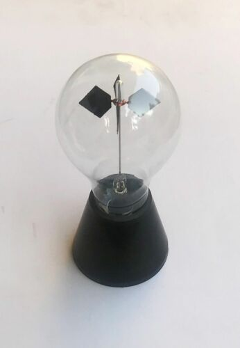 Crooks Radiometer Glass Light Mill Solar Power Home Decoration Educational Toy