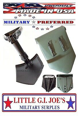 "Military Spec E Tool Entrenching Shovel & Cover Folding Shovel THE BEST! 23""Long"