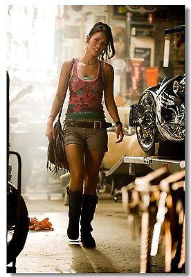 Poster Silk Megan Fox Movie Star Room Club Art Wall Cloth Print 214