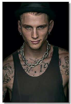 Poster Silk Machine Gun Kelly Rapper Pop Star Room Club Art Wall Print 209