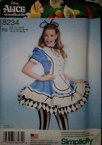 Simplicity 8234 Sz 14-22 Disney Alice in Wonderland Cosplay Costume Pattern New