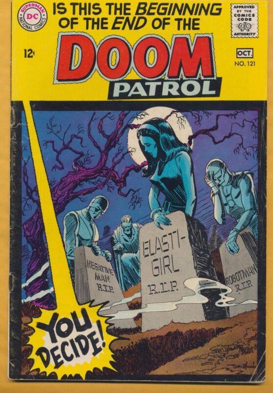 Doom Patrol #121 DC Comics 1968, Death of Doom Patrol
