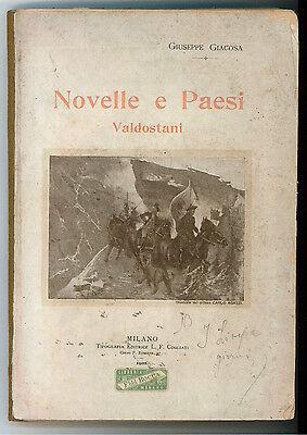 GIACOSA GIUSEPPE NOVELLE E PAESI VALDOSTANI COGLIATI 1901