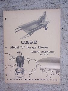 1949-J-I-Case-Model-J-Forage-Blower-Parts-Catalog-B261-Manual-Farm-Equipment-R