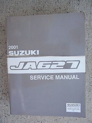 2001 Suzuki JA627 Auto Service Manual Engine Suspension Electrical Restraints  R